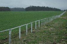 農場中心部へ向かう道の両脇は、ずっと美しい牧草地が続きます。