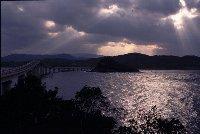 角島から本土方面を望む