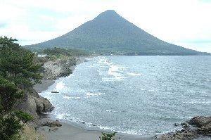 海沿いに開聞岳を望める数少ないビューポイント