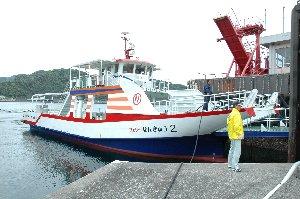フェリーと言っても「海のタクシー」ばりの可愛らしさがある。