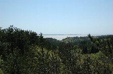 国道側には十三湖をしっかり見れるポイントは少ない。