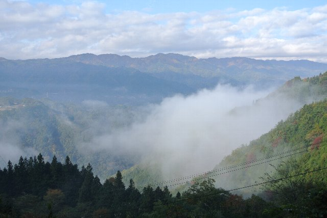 この時期、盆地は霧海に沈むことが多いので、早朝は狙い目ですよね。