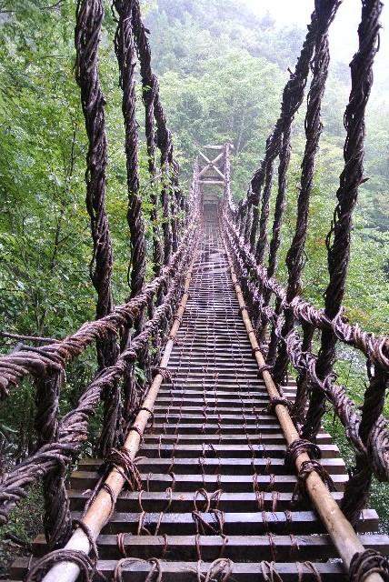 男橋の方が川からの高さが高く、渡っている時のスリルがあります。