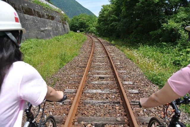 往路は坂を下る区間のため、うちは上り坂用にと漕ぎ手から外された(笑)。